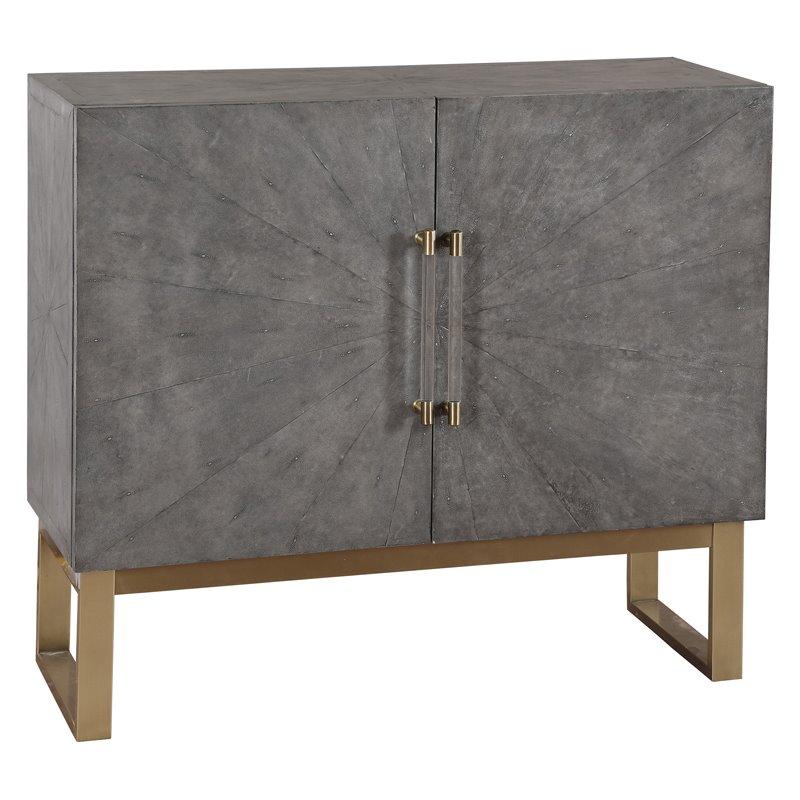 Home Fare Two Door Shagreen Bar Cabinet