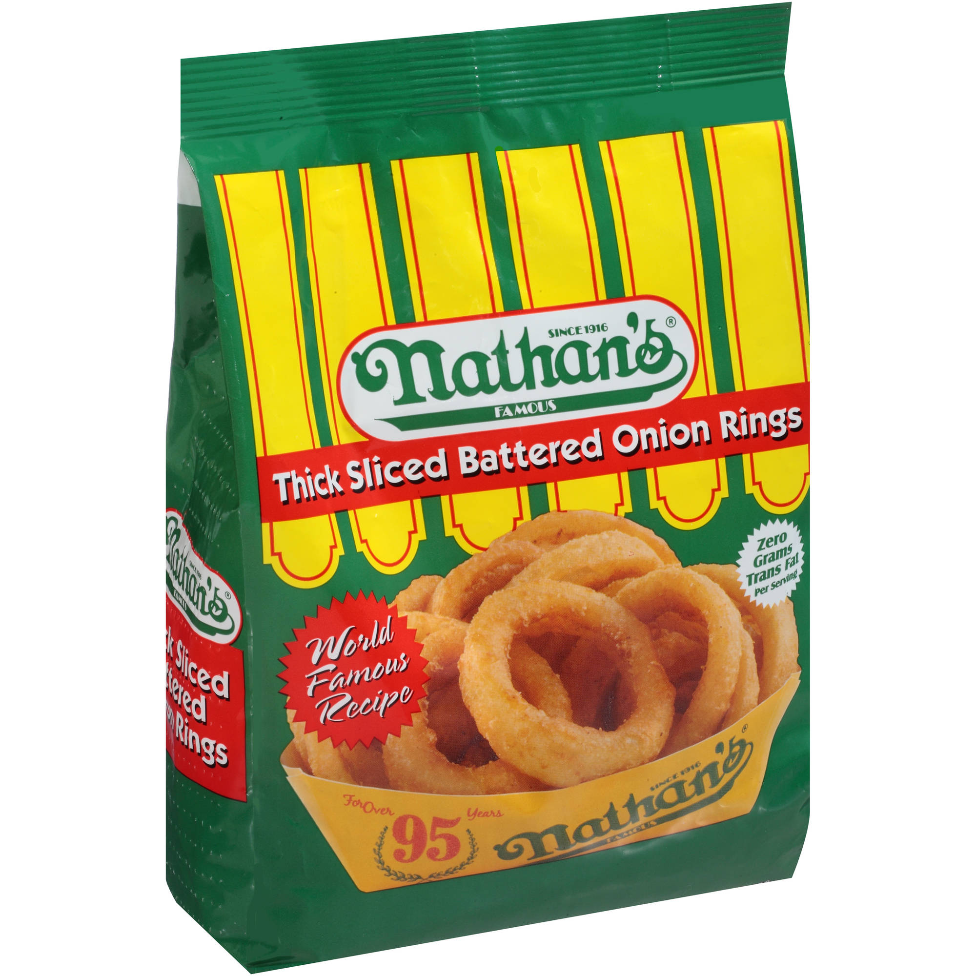 Nathan's Famous Thick Sliced Battered Onion Rings, 16 oz