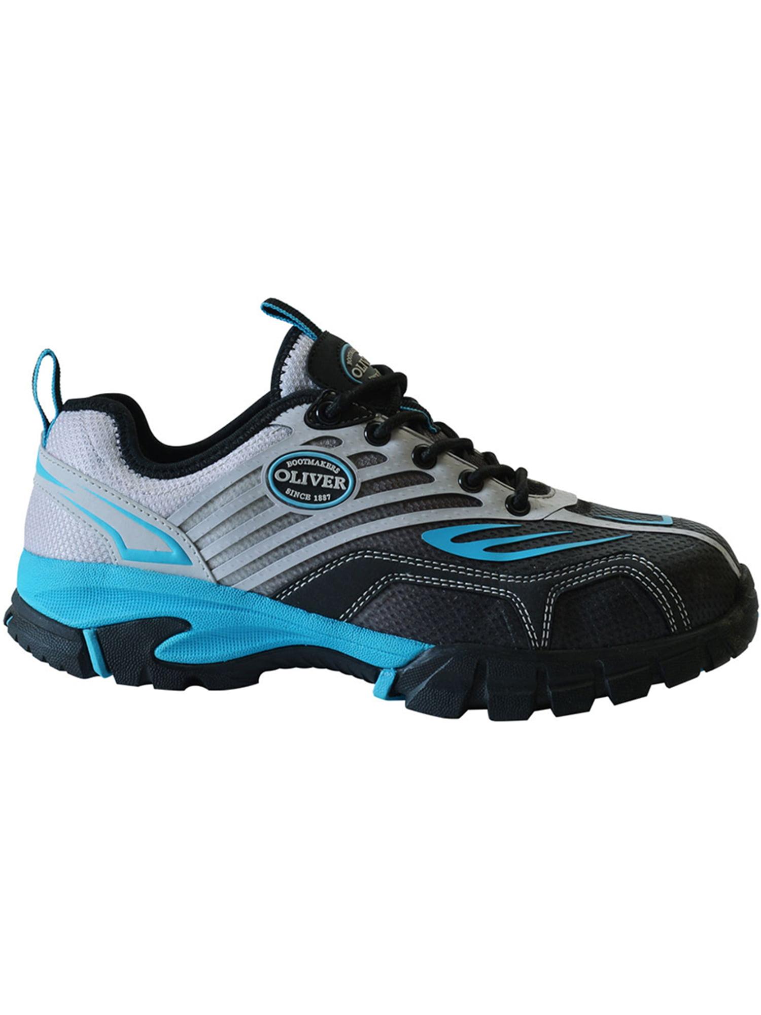 Oliver Women's 3'' Composite Toe Slip Resistant Waterproof Textile Work Sneakers Blue Mesh Textile Waterproof EVA Rubber 9 M 6ca0f9