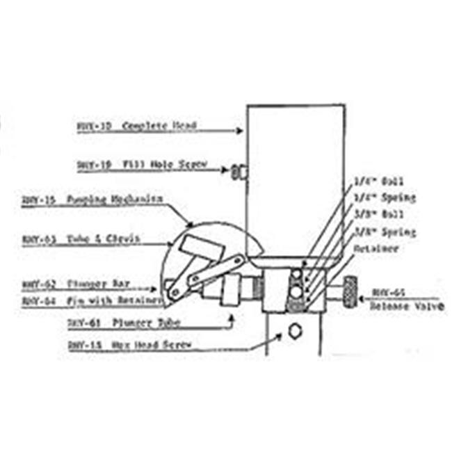 rieco titian rhy64l camper jack hydraulic pump mechanism pin\u0026 44 Winnebago Motorhome Wiring Diagram Motorhome Jacks Hydraulic Wiring Diagram #11