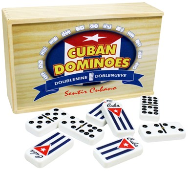 Cuban Flag Double Nine Domino Set