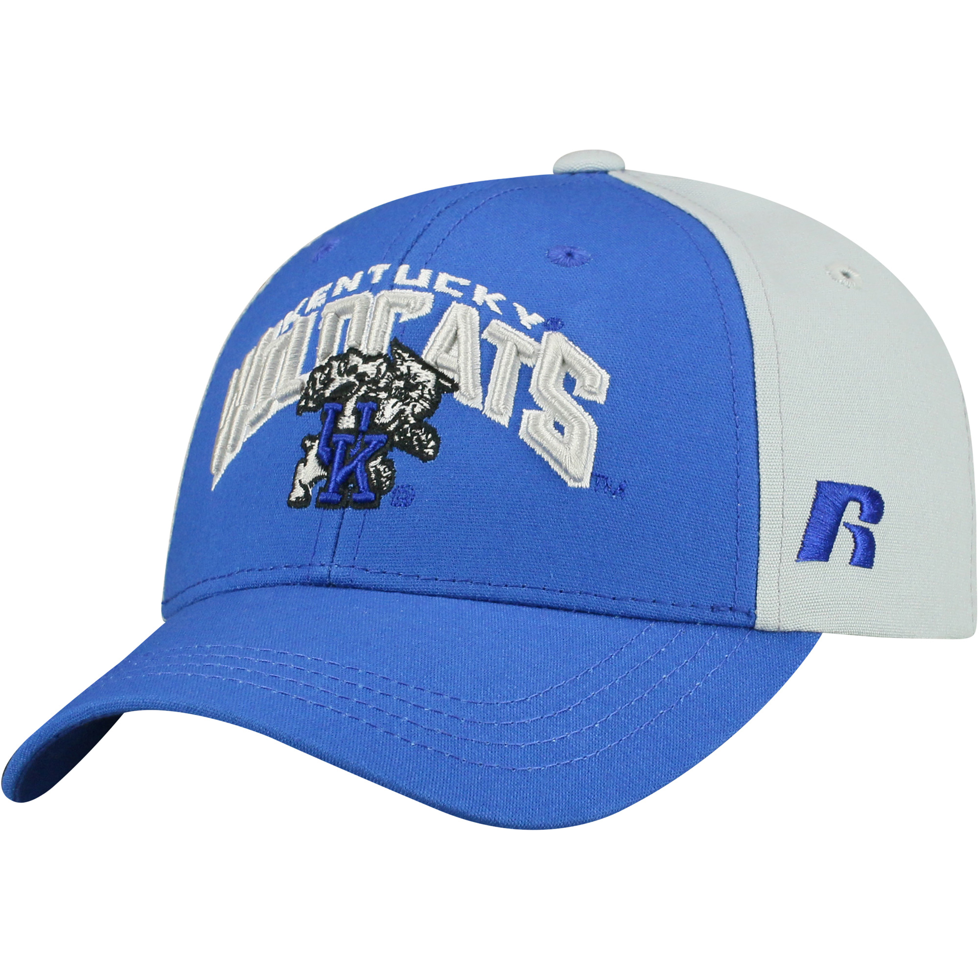 Youth Russell Royal/Gray Kentucky Wildcats Tastic Adjustable Hat - OSFA