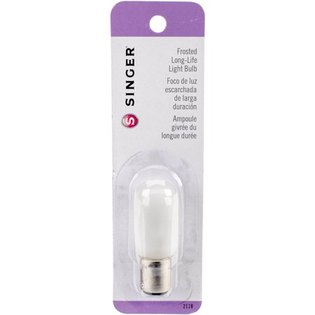 Frosted Long Life Light Bulb 15W - 120V - Push - In Base