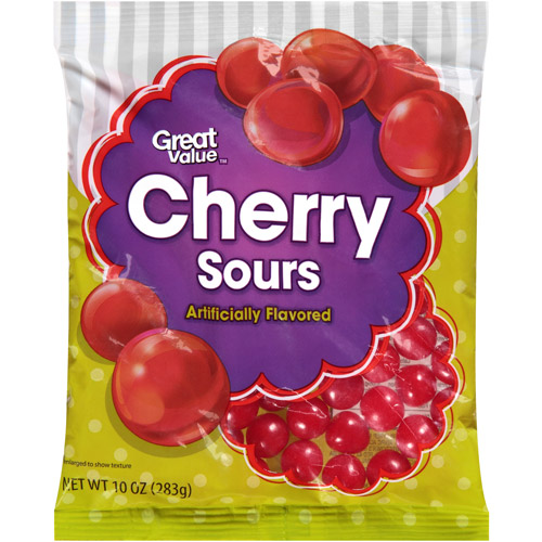 Great Value Cherry Sours, 10 oz