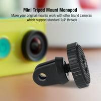 OTVIAP Black 1/4  Quick-Release Mini Tripod Mount Monopod Adapter for GoPro Hero 4 3 3+, Tripod Mount Adapter, Camera Adapter for Tripod