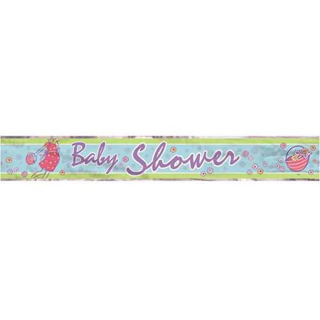 Baby Shower 'Baby on the Way' Foil Banner (12ft) (Banner On The Cheap)