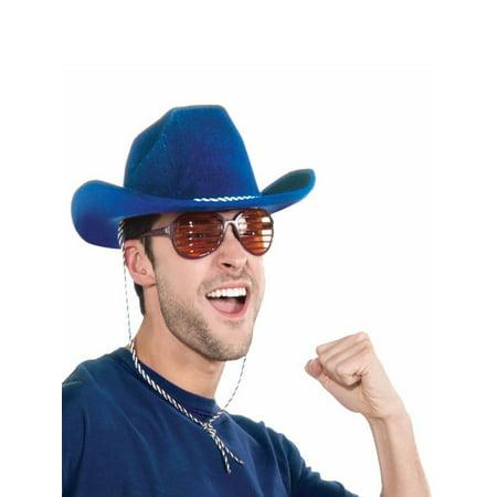 Blue Cowboy Hat Halloween Costume Accessory