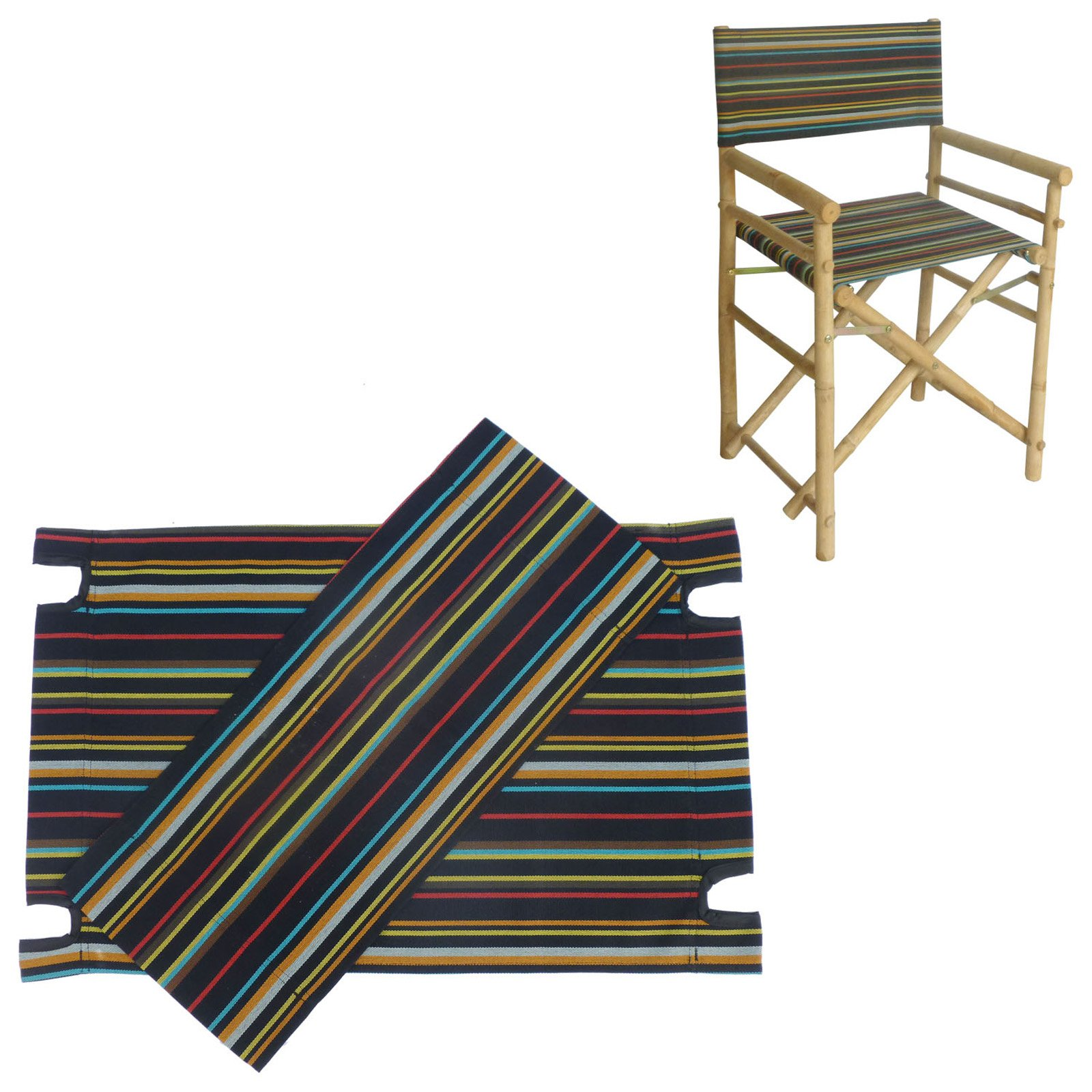 Statra Canvas Seat and Back for Bamboo Director Chair