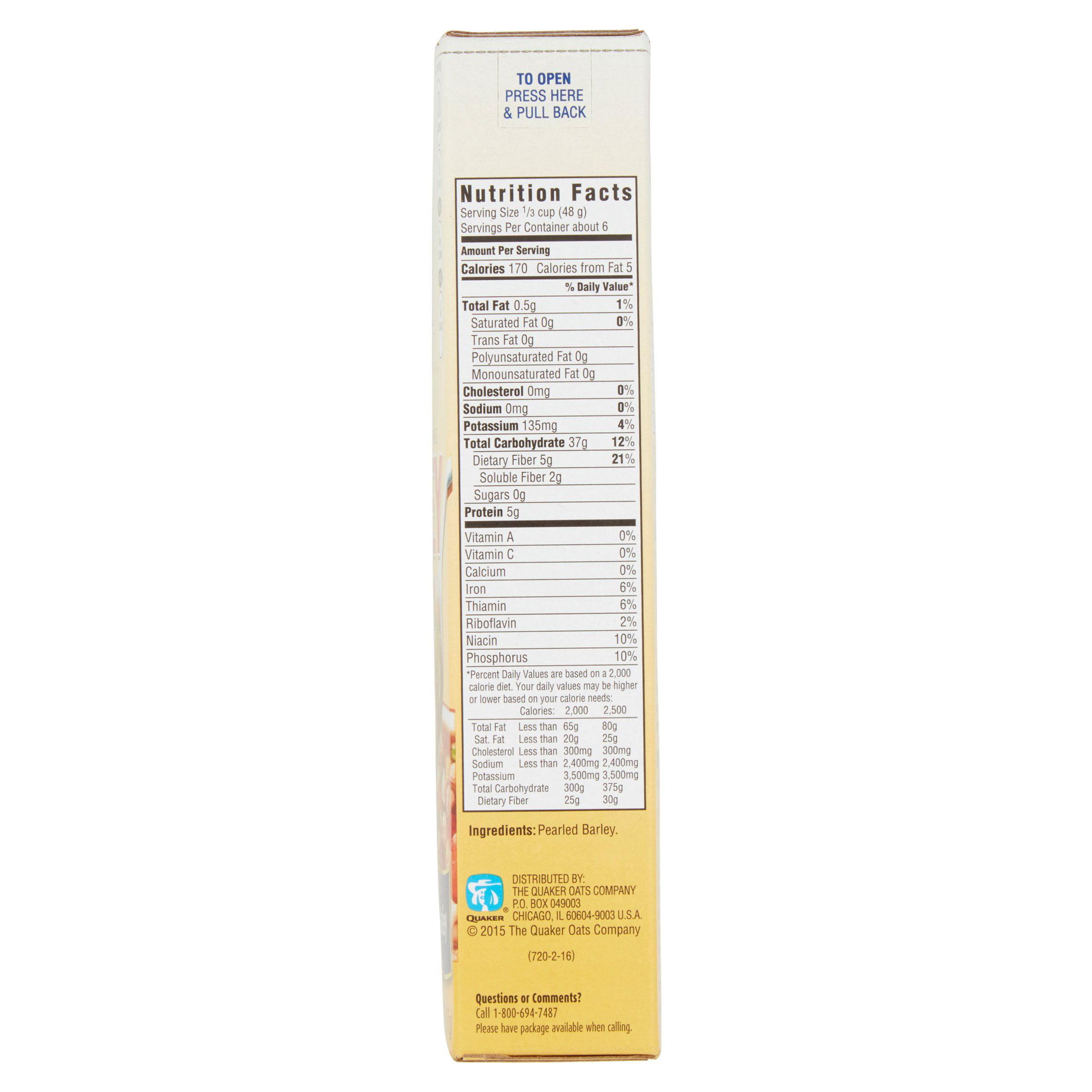 Quaker Quick Pearled Barley, 11 oz Box