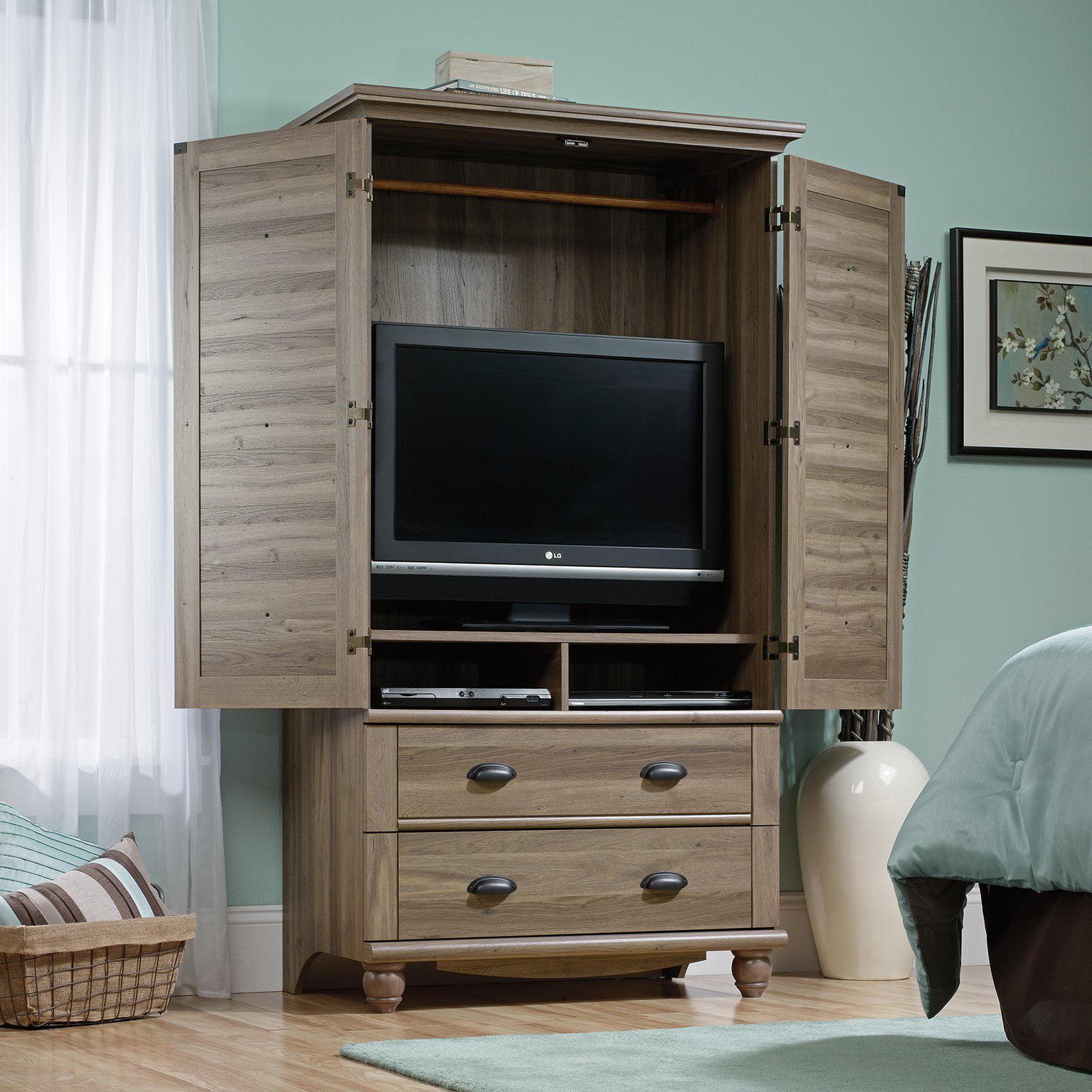 DETAILS. Media Center Armoire Storage Cabinet Drawer Wardrobe TV ...