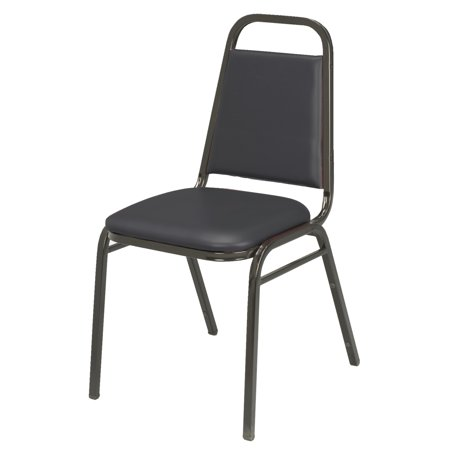 Armless Stacking Chair (KFI IM810 Armless Stacking Chair, Black Vinyl, 1.5in Seat)