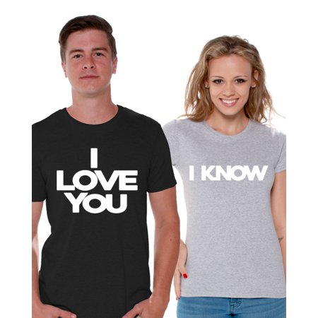 b1ee6209e8 Awkward Styles - Awkward Styles I Love You I Know T shirts for Couples Cute  Matching Couple Shirts Boyfriend and Girlfriend Valentine's Day Gifts I  Love You ...