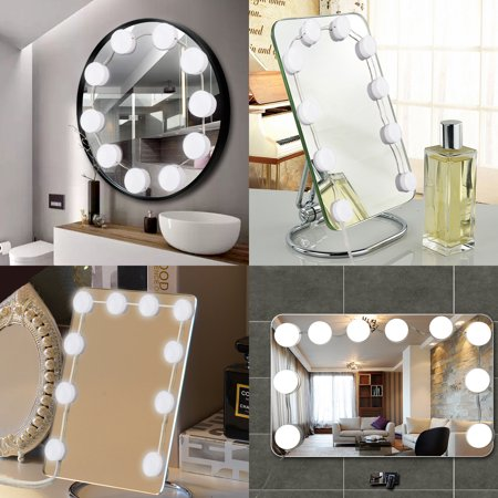 tsv hollywood style led vanity mirror lights kit with dimmable light bulbs lighting fixture. Black Bedroom Furniture Sets. Home Design Ideas