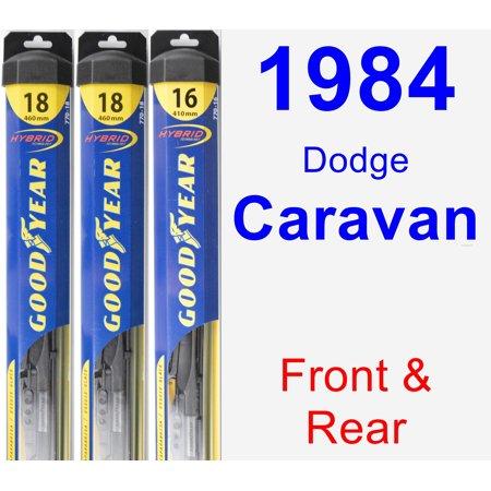 1984 Dodge Caravan Wiper Blade Set/Kit (Front & Rear) (3 Blades) - Hybrid ()