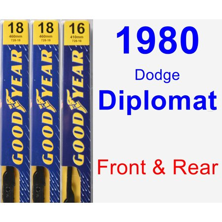 1980 Dodge Diplomat Wiper Blade Set/Kit (Front & Rear) (3 Blades) - Premium