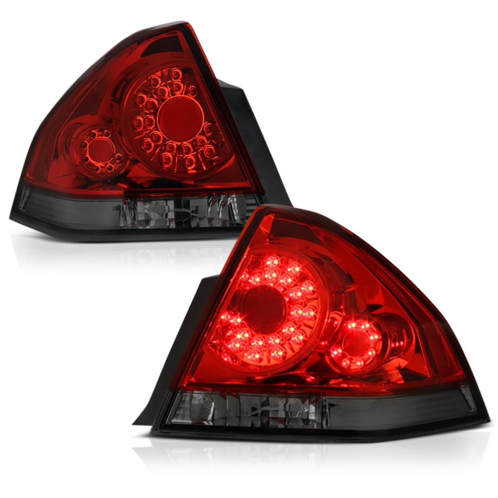 VIPMOTOZ Smoke Lens LED Tail Light Lamp Assembly For 2006-2013 Chevy Impala & Limited Model, Driver & Passenger Side