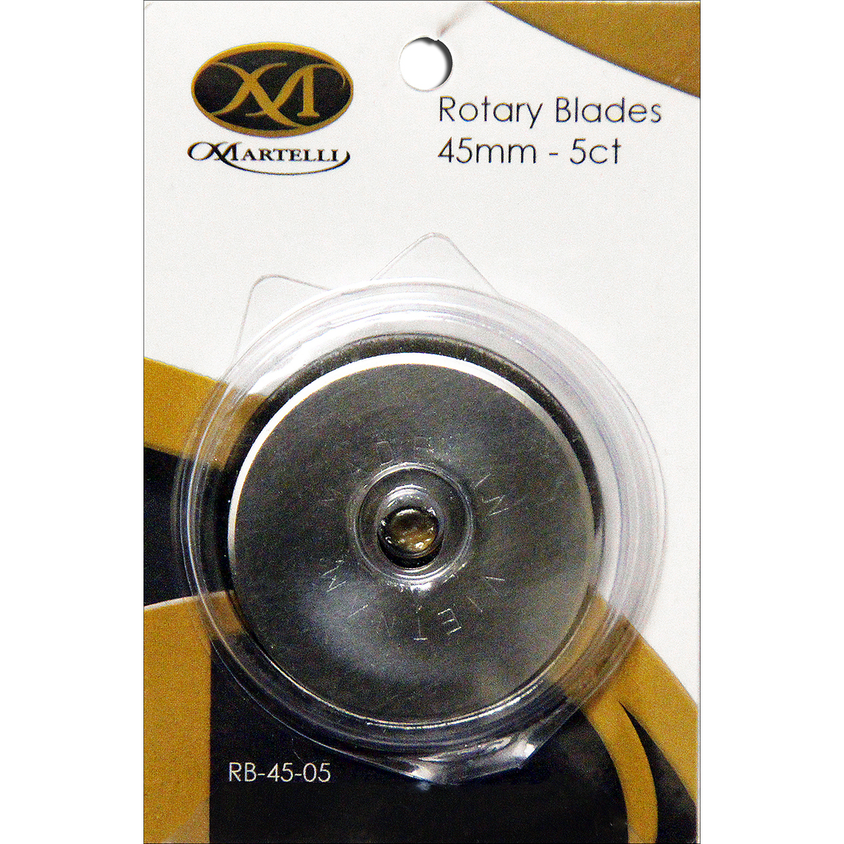 Martelli Rotary Cutter Replacement Blades, 45mm, 5/Pkg