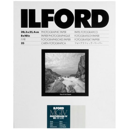Ilford Multigrade IV Resin Coated RC DE LUXE 8 x 10 Paper (25 Sheets - Pearl)