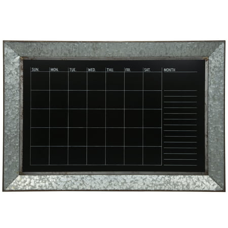 Rustic Galvanized Metal Framed Wall Mount Chalkboard Calendar](Cheap Chalkboards)