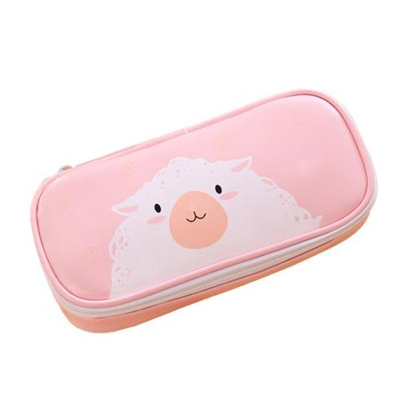Cartoon Animal Pencil Case Cute Pen Holder Pouch Zipper Stationery Case for School Student Teens - Cute Pencil Case