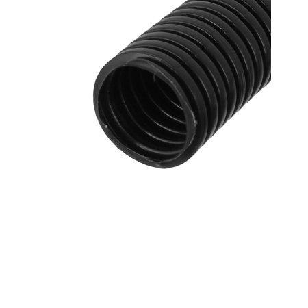 7m 23ft Long Black Nylon Corrugated Conduit Wire Tubing Hose Tube 25mm Diameter - image 1 de 2