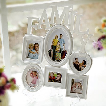 6 Multi-sized Picture Frame Family Wall Collage Photo Holder Table Display Home Bedroom Hang Wall Decor 12x14.5