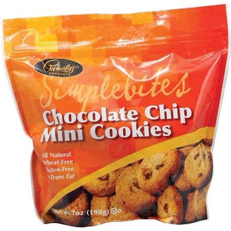 Pamela's Products Simplebites Chocolate Chip Mini Cookies, 7 Ounce