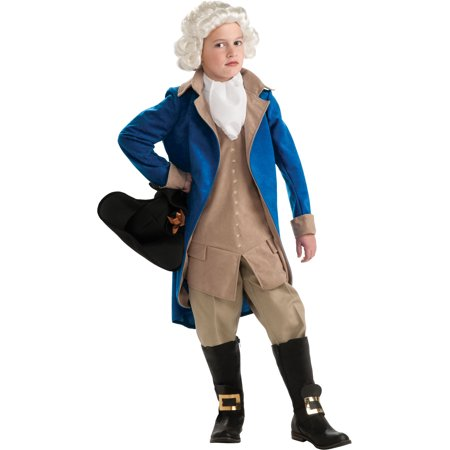 George Washington President Boys Costume R884718 - Medium (8-10) - Adult George Washington Costume