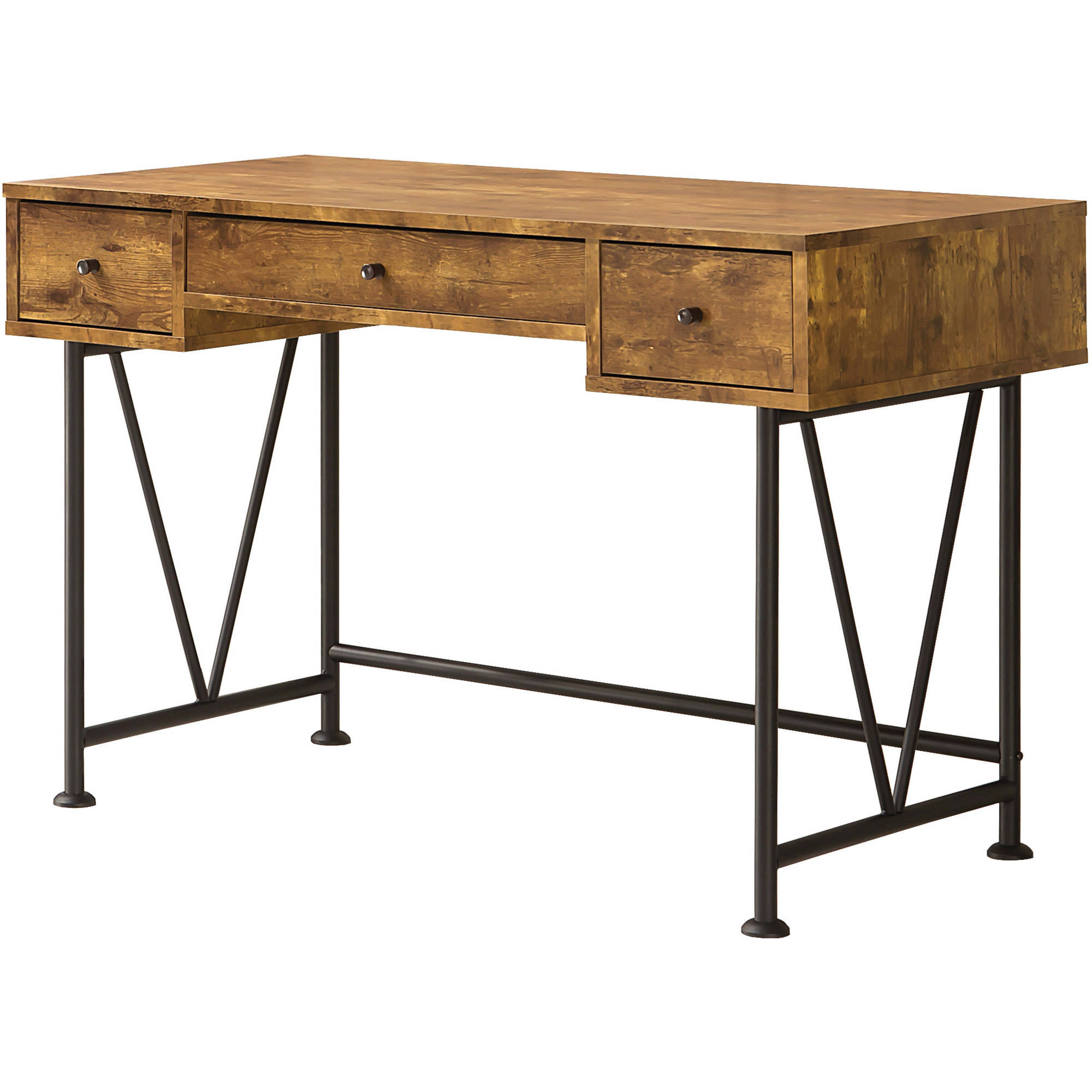 coaster company writing desk antique nutmeg black