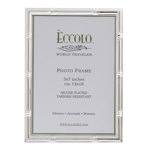 Eccolo Ltd Silverplate Bamboo Picture Frame