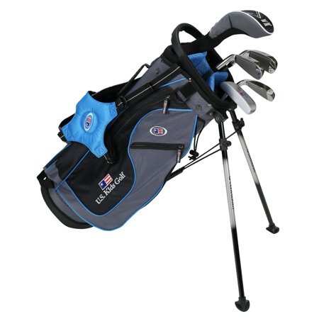 US Kids UL48 Ultralight 5-Club Golf Complete Club Set with Stand Bag, Grey/Teal Bag for 48-51