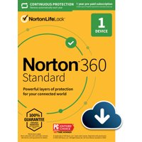 NORTON 360 STANDARD, 1-Year Subscription, 1 DEVICE, PC, MAC [Digital Download]