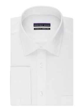 NEW Solid White Mens Size 15 1/2 Classic Fit Dress Shirt