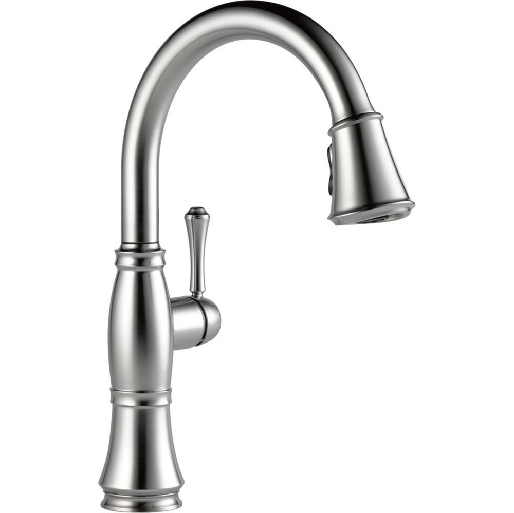 Delta Cassidy Single Handle Kitchen Faucet Arctic Stainless 9197