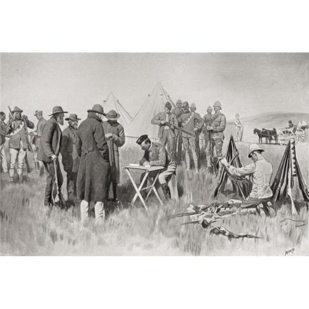 Boer Farmers Taking The Oath of Neutrality At Greylingstad, South Africa During The Second Boer War From South Africa & The Transvaal War, by Louis Creswicke Published 1900 Poster Print, 1 - image 1 of 1