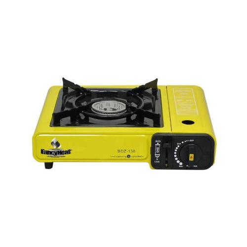 FANCY HEAT Portable Butane Stove, 9925 Btu, Piezoelectric Ignition, Yellow FH...