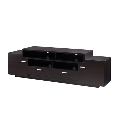 """Furniture of America Braswell 72"""" TV Stand in Cappuccino"""