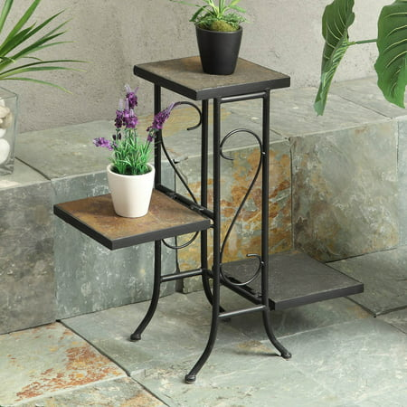 3 Tier Plant Stands - 4D Concepts 3 Tier Slate Plant Stand