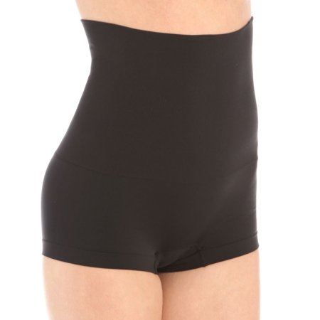 Maidenform Self Expressions Women's Shaping High Waist Boyshort 525 - Black M