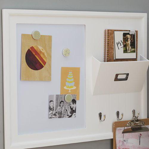 Rebrilliant Decorative Wood Home Organizer Dry Erase Board