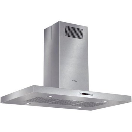 HIB82651UC 42 800 Series Box Canopy Island Hood with 600 CFM Centrifugal Integrated Blower  4 Speed Touch Controls with LCD Display and Dishwasher-Safe Filters in Stainless Steel