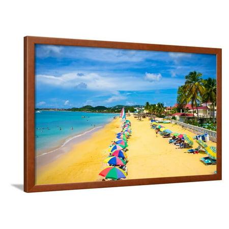 Beautiful Beach in Saint Lucia, Caribbean Islands Framed Print Wall Art By mffoto](Saint Lucia Day)