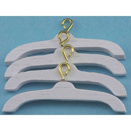 Dollhouse Clothing (Dollhouse Clothes Hanger 4/Pk White)