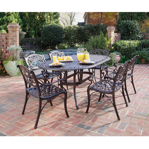 "Home Styles Biscayne 7 Piece 72"" Oval Dining Set, Multiple Finishes"