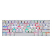 CK62 BT3.0 Wired RGB Mechanical Keyboard for Tablet Laptop Smartphone White&Red Shaft