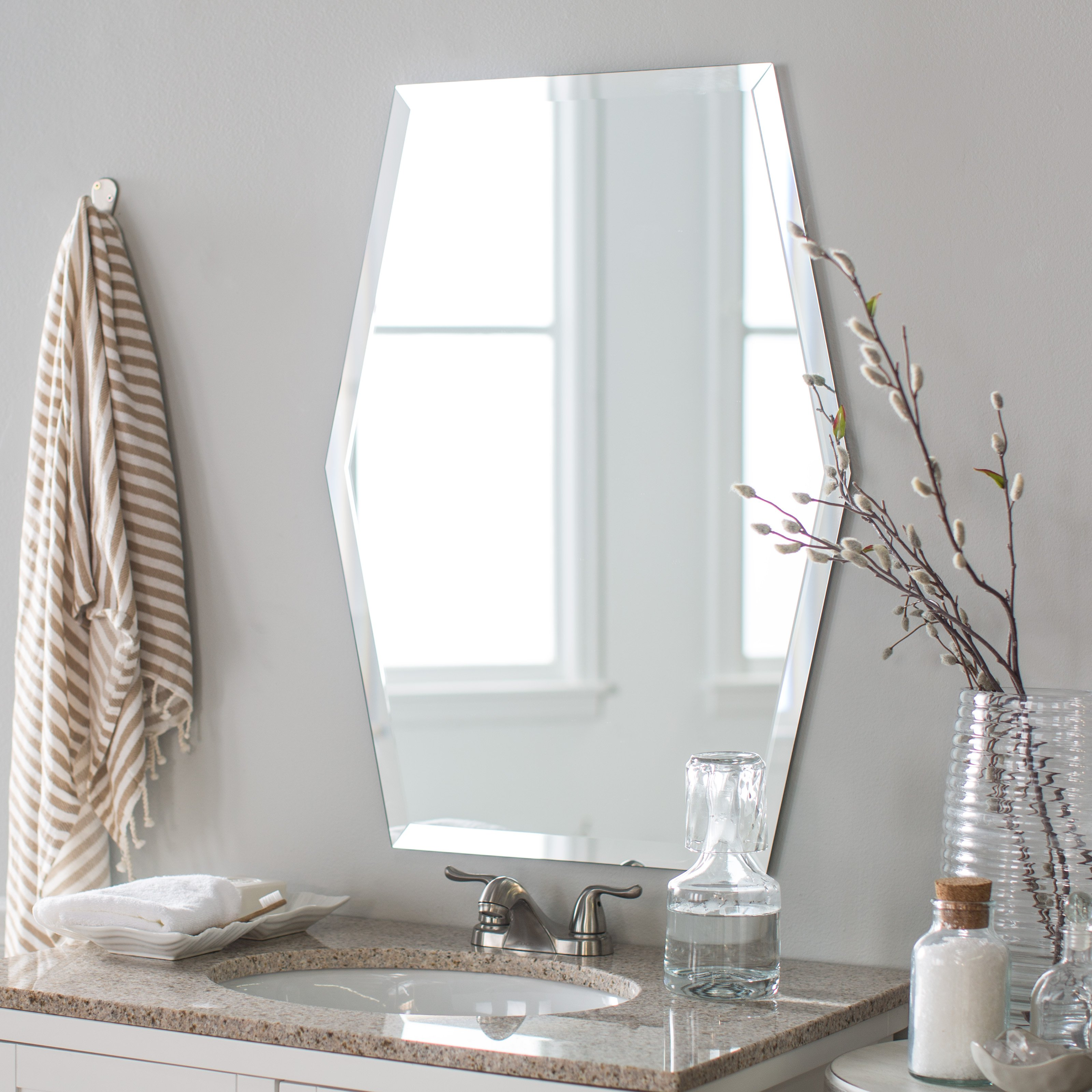 Decor Wonderland Century Modern Bathroom Mirror 23W x 31H in. by