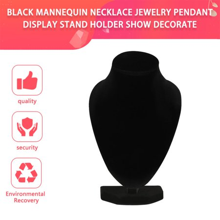 Durable Black Mannequin Necklace Jewelry Pendant Display Stand Holder Show Decorate Bracelet Jewelry Organizer, Black - image 4 of 7