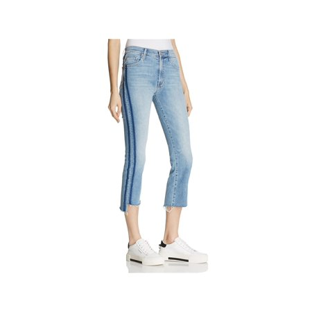 Mother Womens Insider Cropped Medium Wash Jeans