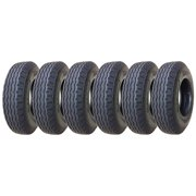 Set of 6 New Heavy Duty Highway Trailer Tires 8-14.5 14PR Load Range G- 11067