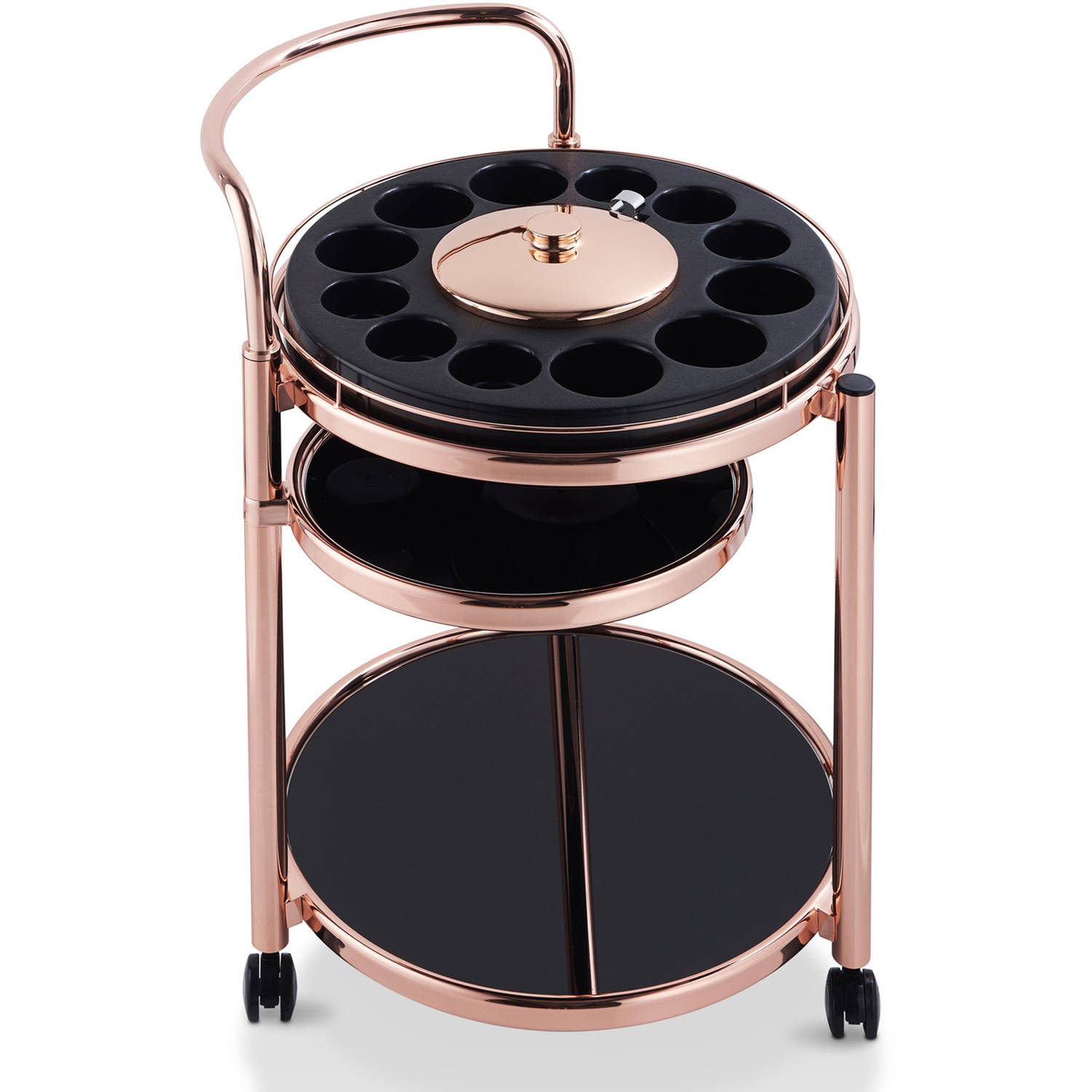 Furniture of America Kinnery Modern Serving Cart, Rose Gold by Furniture of America